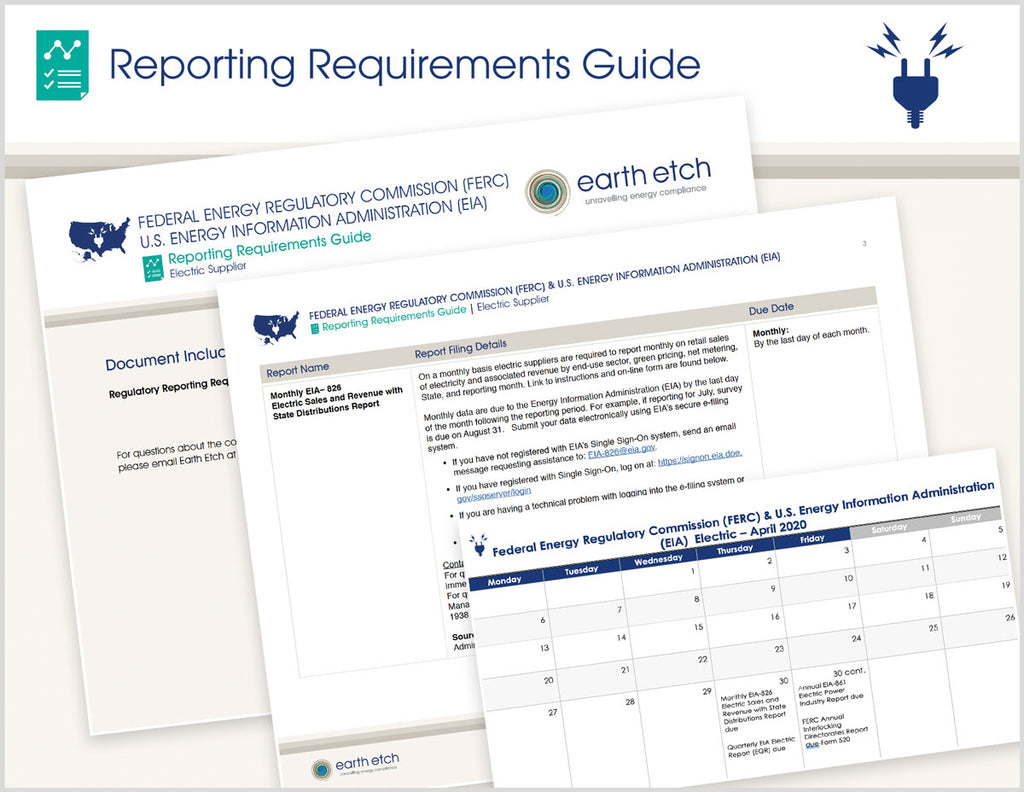 Federal Energy Regulatory Commission (FERC) & U.S. Energy Information Administration (EIA) Reporting Requirements Guide (Electric)