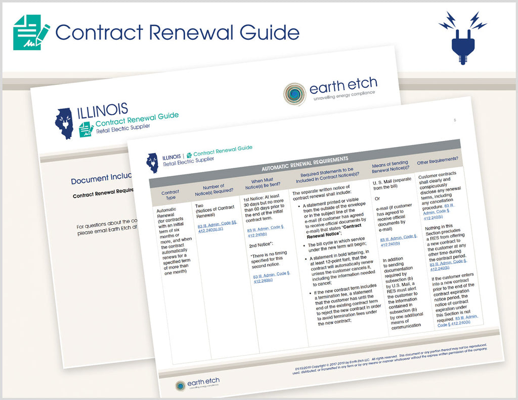 Illinois Contract Renewal Guide (Electric)