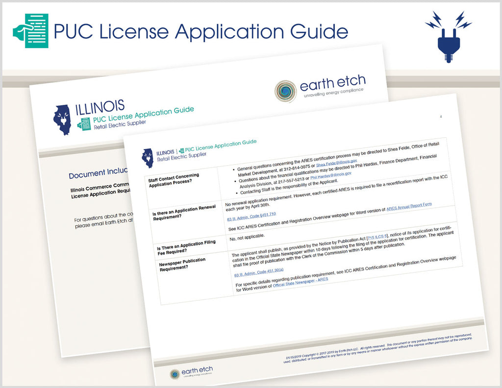 Illinois PUC License Application Guide (Electric)
