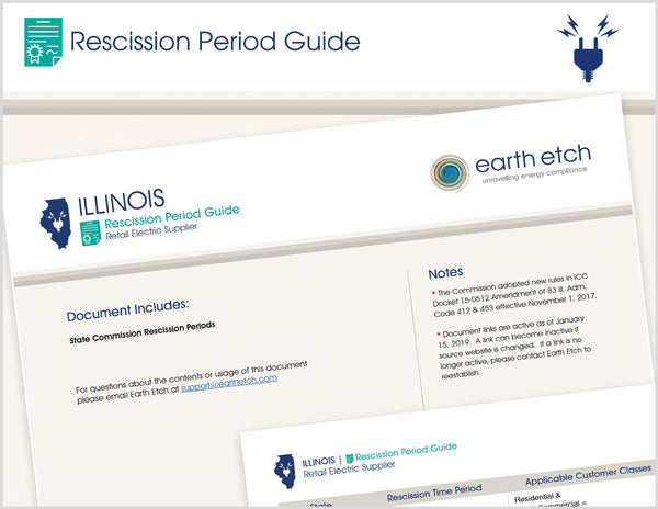 Illinois Rescission Period Guide (Electric)