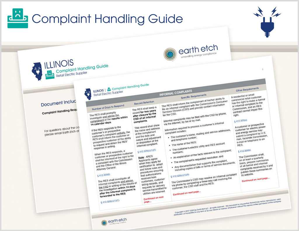 Illinois Complaint Handling Guide (Electric)