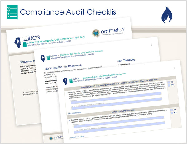 Illinois Alternative Gas Suppliers Utility Assistance Recipient – 220 ILCS 5/19-116 – Compliance Audit Checklist (Gas)