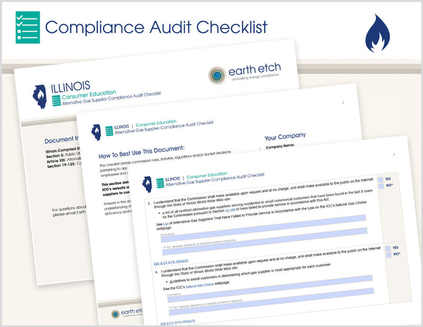 Illinois Consumer Education – 220 ILCS 5/19-125 – Compliance Audit Checklist (Gas)
