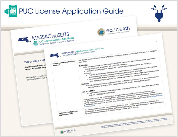Massachusetts PUC License Application Guide (Electric)