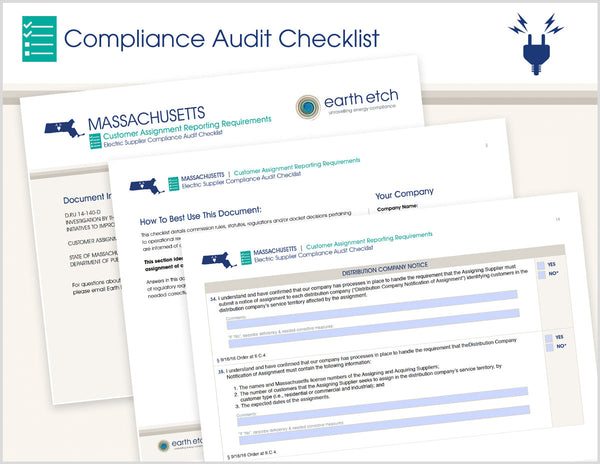 Massachusetts Customer Assignment Reporting Requirements – D.P.U. 14-140-D – Compliance Audit Checklist (Electric)