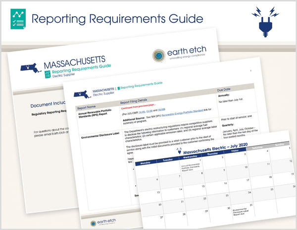 Massachusetts Reporting Requirements Guide (Electric)