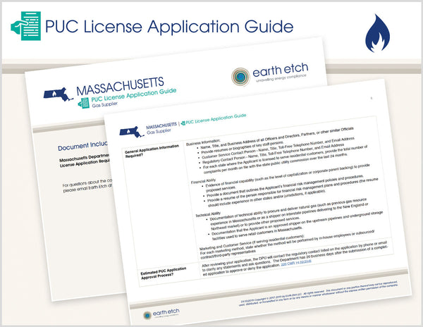 Massachusetts PUC License Application Guide (Gas)
