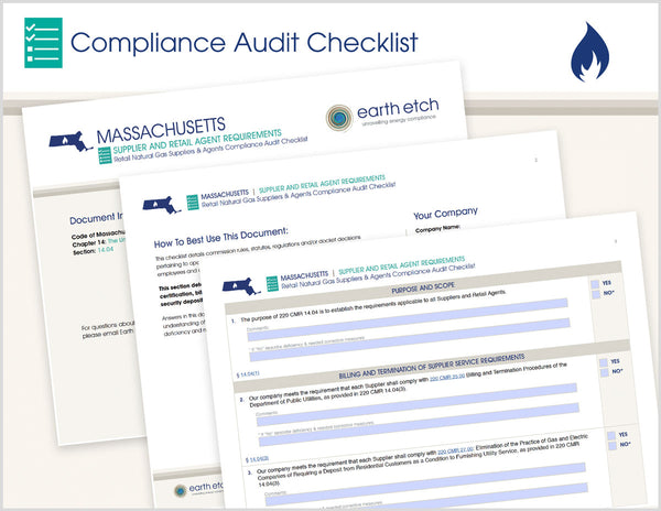 Massachusetts Supplier and Retail Agent Requirements - § 14.04 – Compliance Audit Checklist (Gas)