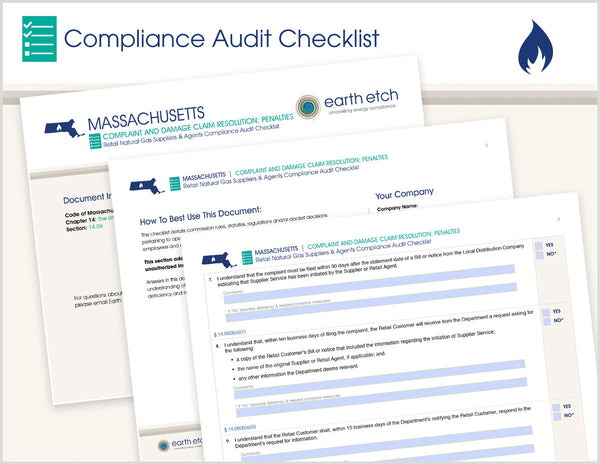 Massachusetts Complaint and Damage Claim Resolution - § 14.06 – Compliance Audit Checklist (Gas)
