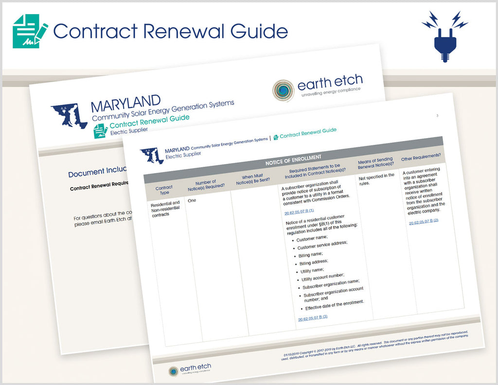Maryland Contract Renewal Guide (Community Solar)