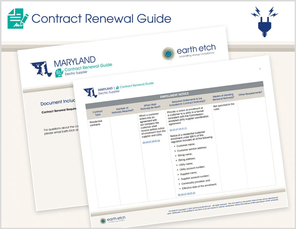 Maryland Contract Renewal Guide (Electric)