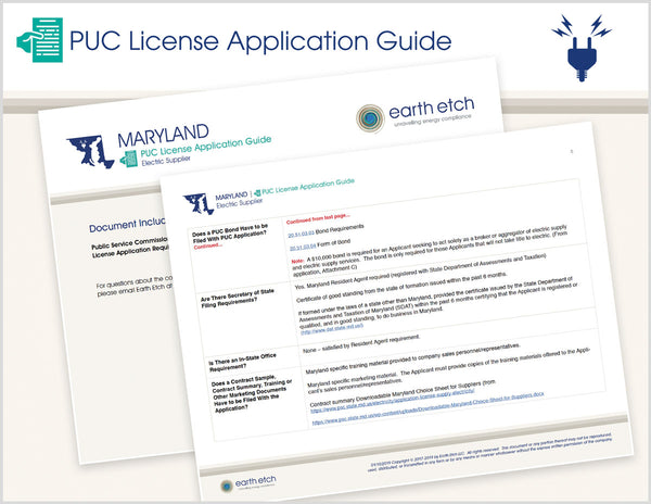 Maryland PUC License Application Guide (Electric)