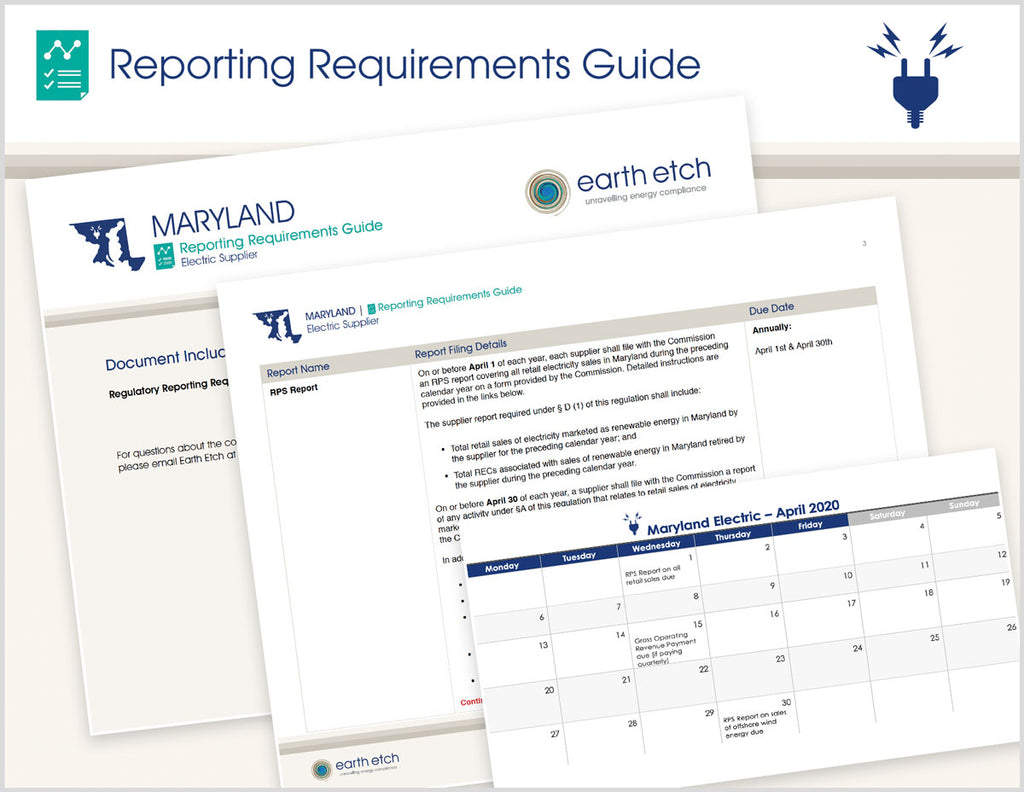 Maryland Reporting Requirements Guide (Electric)