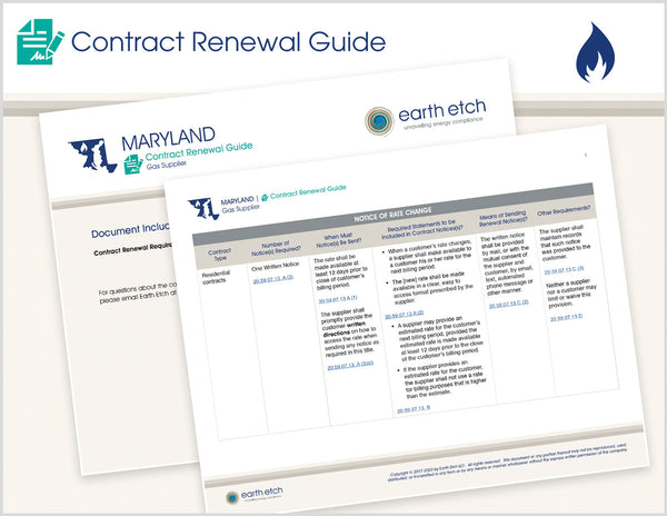 Maryland Contract Renewal Guide (Gas)