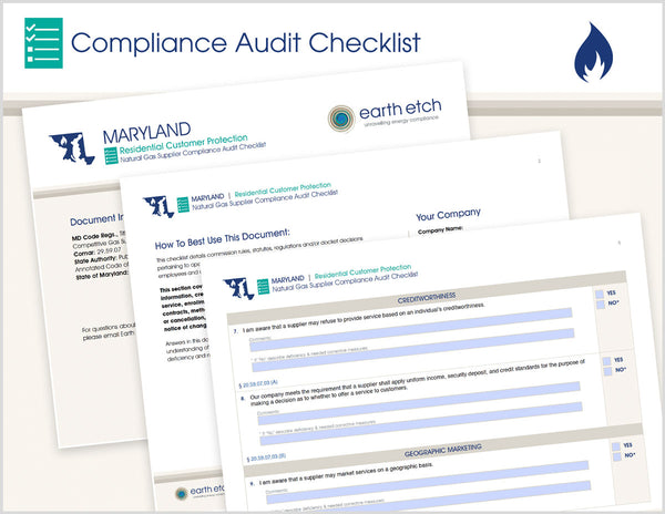 Maryland Residential Customer Protection – COMAR 20.59.07 – Compliance Audit Checklist (Gas)