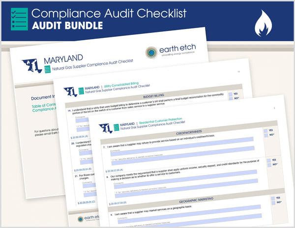 Maryland Compliance Audit Checklist BUNDLE (Gas)