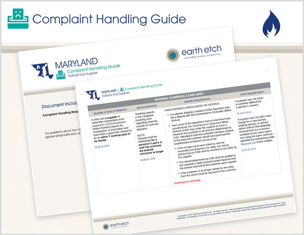 Maryland Complaint Handling Guide (Gas)