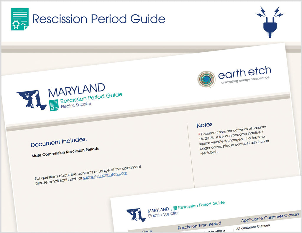 Maryland Rescission Period Guide (Electric)