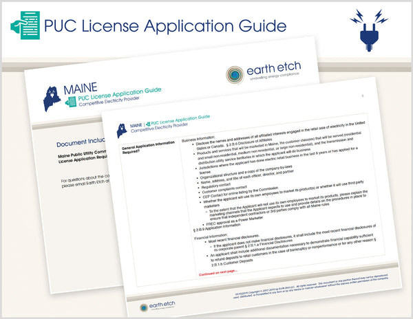 Maine PUC License Application Guide (Electric)