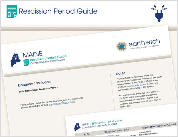 Maine Rescission Period Guide (Electric)