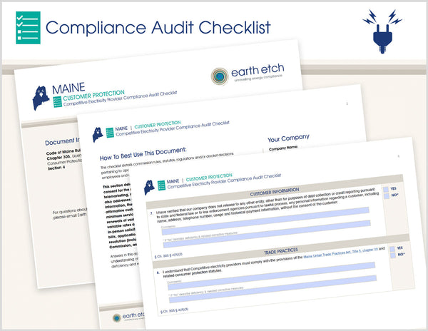Maine Customer Protection - Ch. 305, § 4  – Compliance Audit Checklist (Electric)
