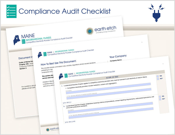 Maine Informational Filings - Ch. 305, § 5  – Compliance Audit Checklist (Electric)