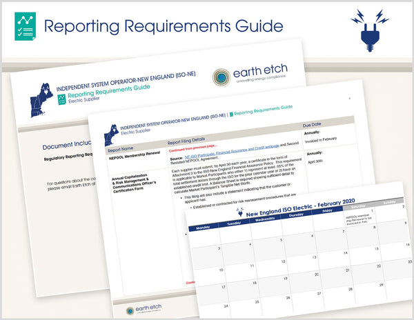 New England Independent System Operator (NEISO) Reporting Requirements Guide (Electric)