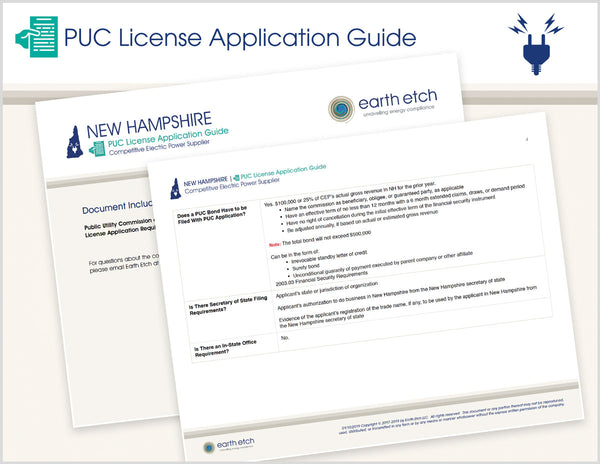 New Hampshire PUC License Application Guide (Electric)