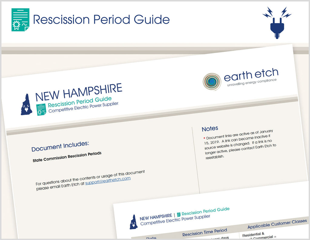New Hampshire Rescission Period Guide (Electric)