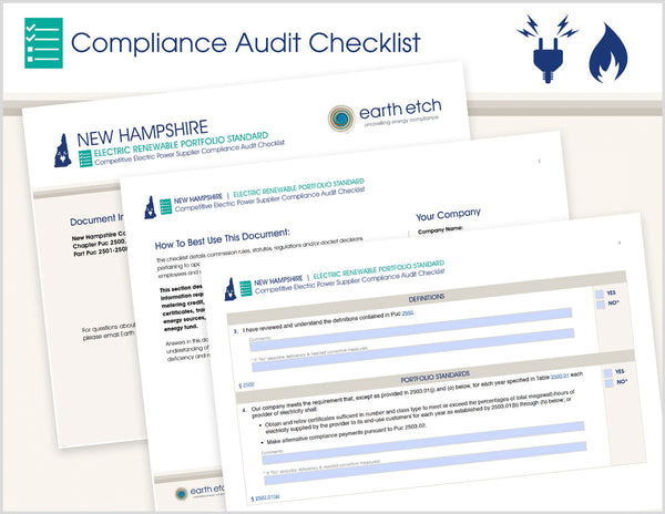 New Hampshire Renewable Portfolio Standard - Parts 2501-2508 – Compliance Audit Checklist (Electric)