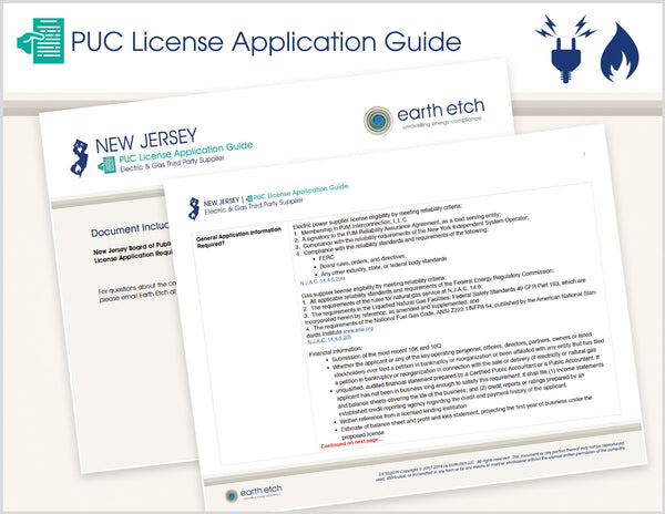 New Jersey PUC License Application Guide (Electric & Gas)
