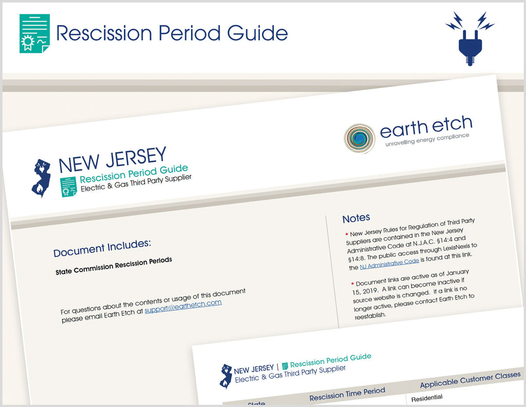 New Jersey Rescission Period Guide (Electric & Gas)