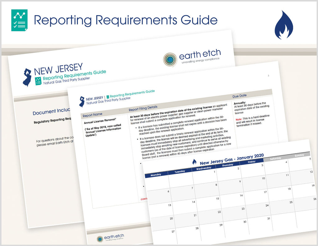 New Jersey Reporting Requirements Guide (Gas)
