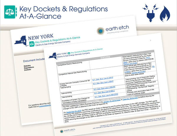 New York Key Dockets & Regulations At-A-Glance (Electric & Gas)