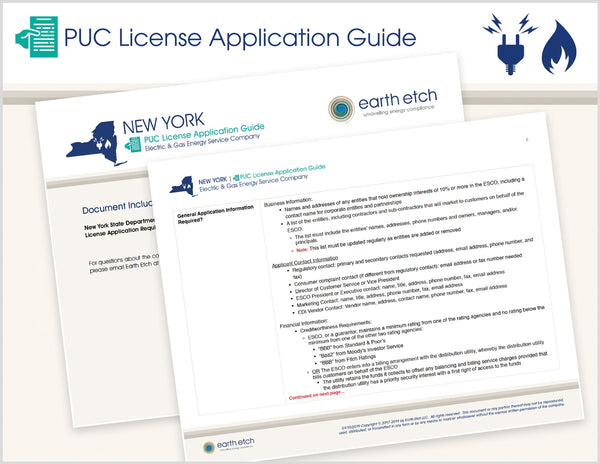 New York PUC License Application Guide (Electric & Gas)