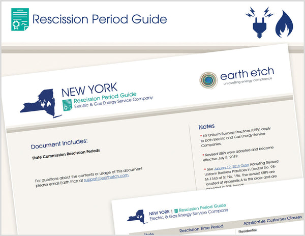 New York Rescission Period Guide (Electric & Gas)