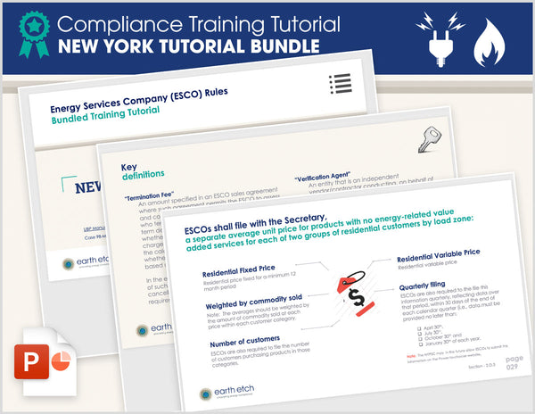 New York Compliance Training Tutorial BUNDLE (Electric & Gas)