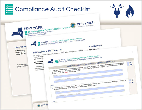 New York Changes in Service Providers – General Provisions - §§ 5.A and 5.B – Compliance Audit Checklist (Electric & Gas)