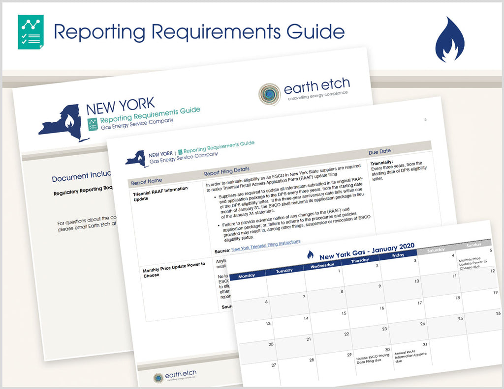 New York Reporting Requirements Guide (Gas)