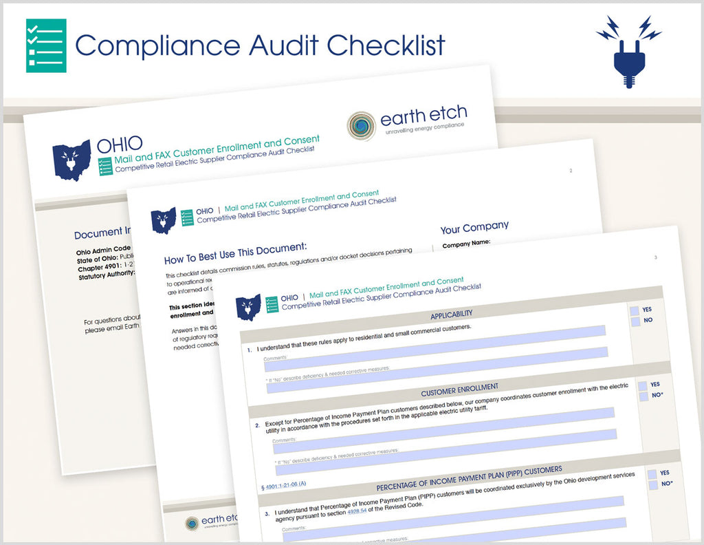 Ohio Mail & Fax Customer Enrollment and Consent – 4901:1-21-06 – Compliance Audit Checklist (Electric)