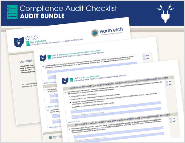 Ohio Compliance Audit Checklist BUNDLE (Electric)