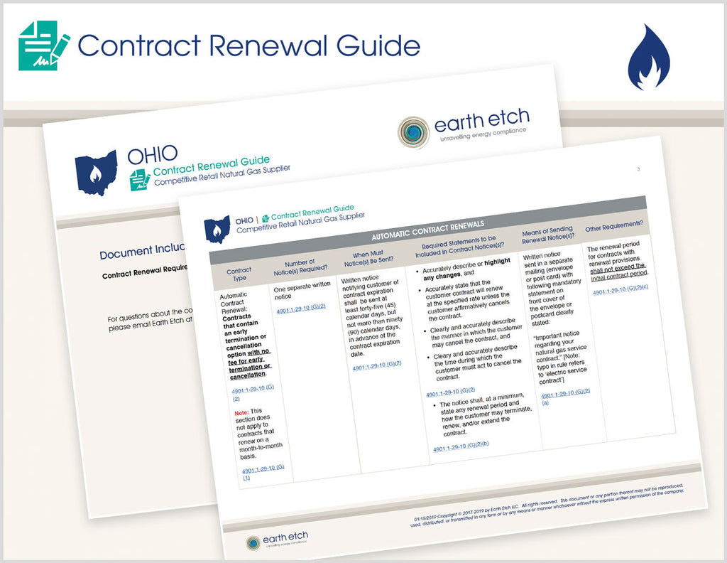 Ohio Contract Renewal Guide (Gas)