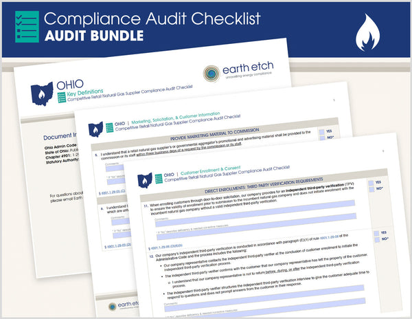 Ohio Compliance Audit Checklist BUNDLE (Gas)
