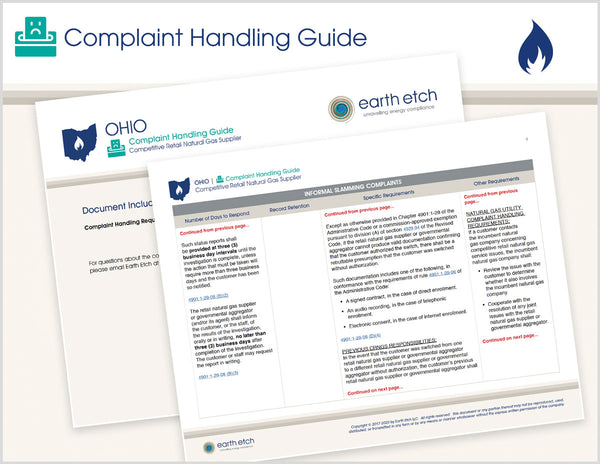 Ohio Complaint Handling Guide (Gas)