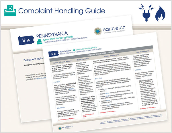 Pennsylvania Complaint Handling Guide (Electric & Gas)
