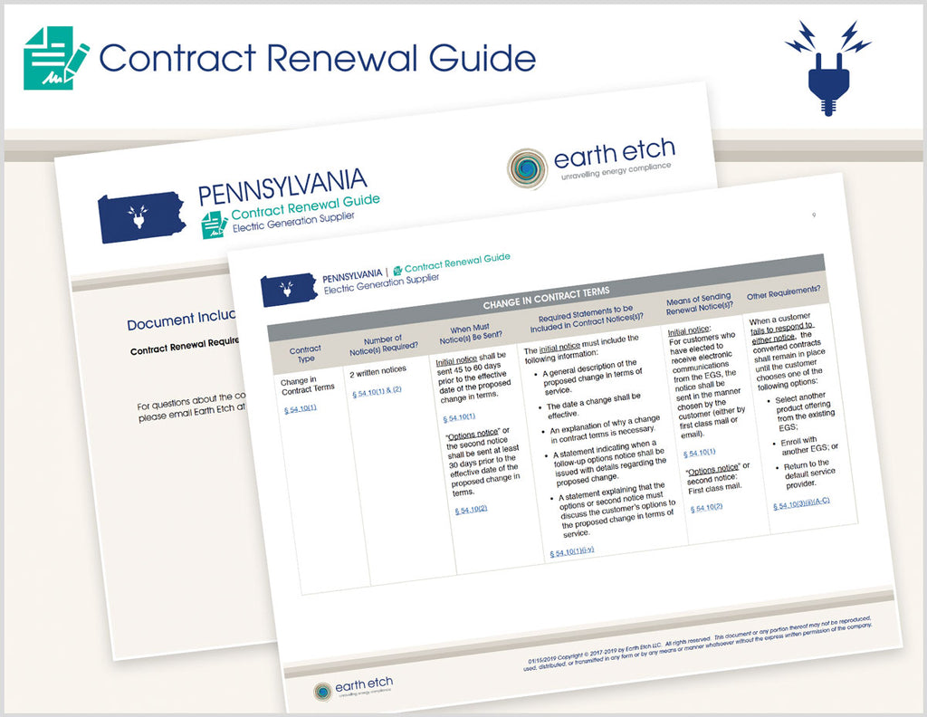 Pennsylvania Contract Renewal Guide (Electric)