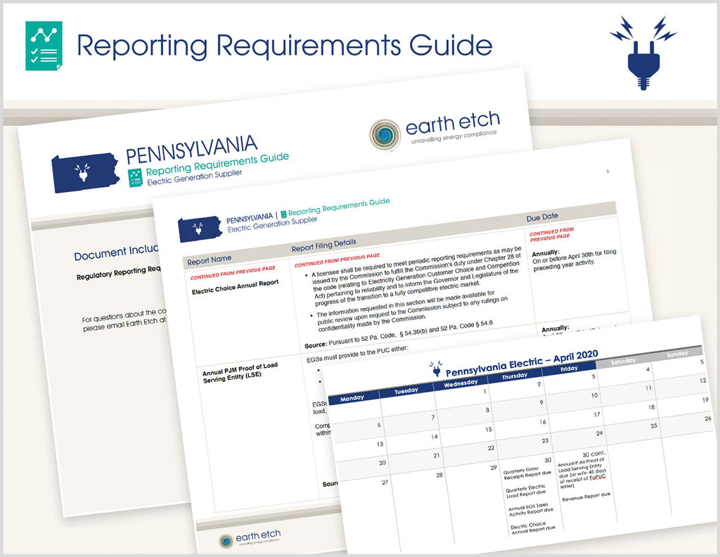 Pennsylvania Reporting Requirements Guide (Electric)