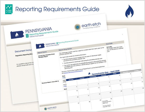 Pennsylvania Reporting Requirements Guide (Gas)