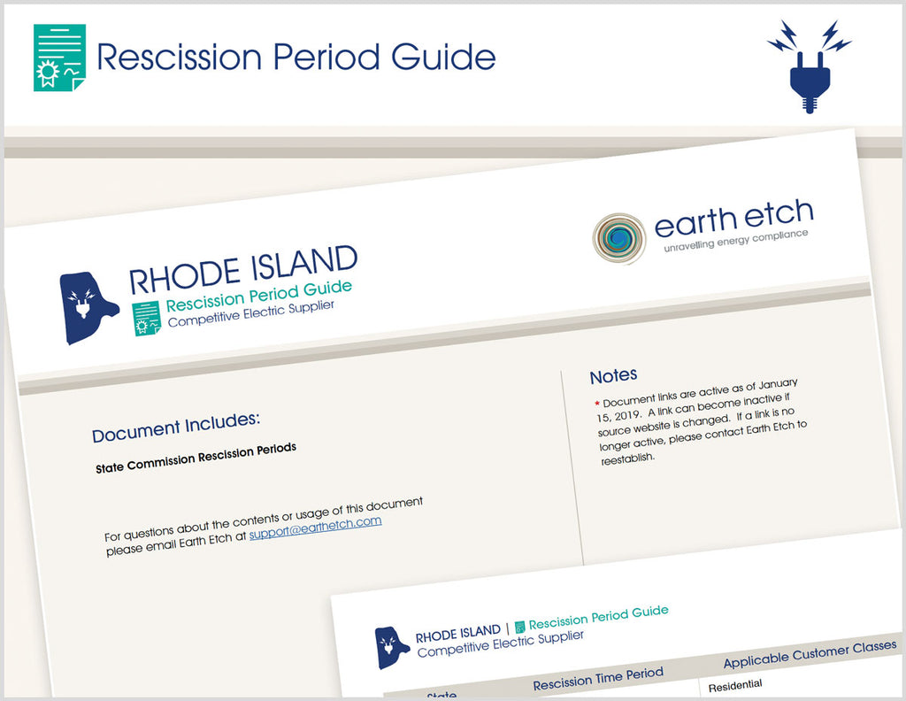 Rhode Island Rescission Period Guide (Electric)