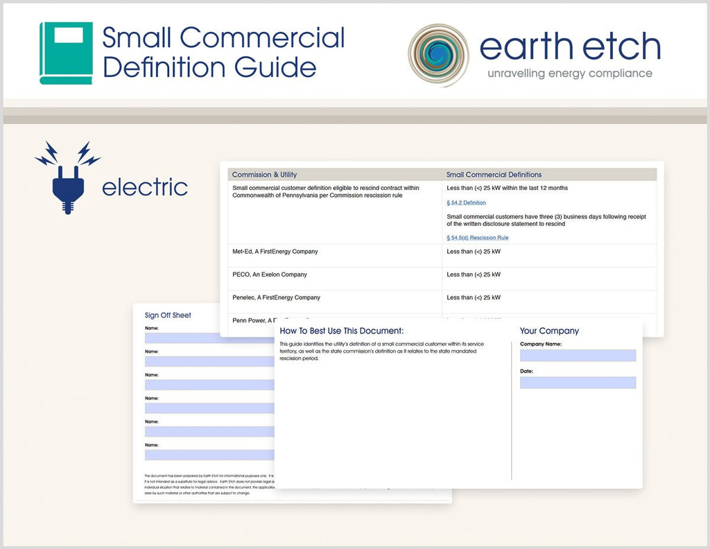 District of Columbia Small Commercial Definition Guide (Electric)